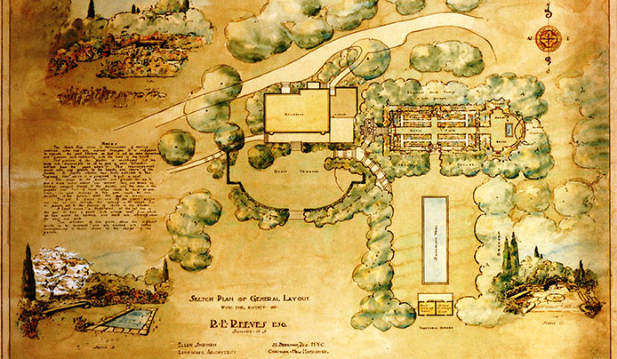 Landscape design by Ellen Biddle Shipman for Reeves-Reed Arboretum