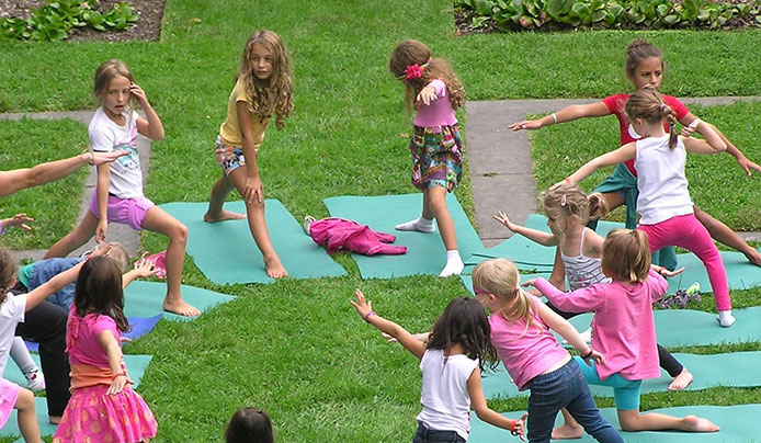 Yoga for kids at Reeves-Reed Arboretum