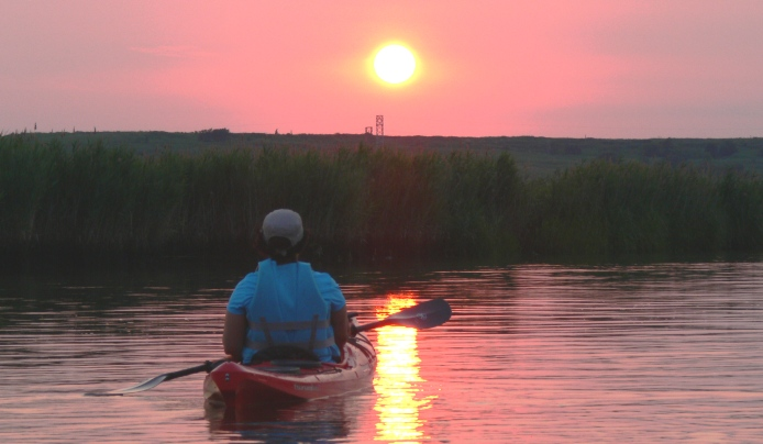 kayak trip meadowlands sunset adult children guide new jersey